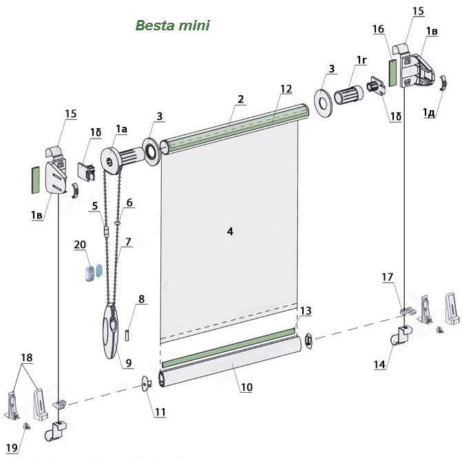 рулонные шторы с леской