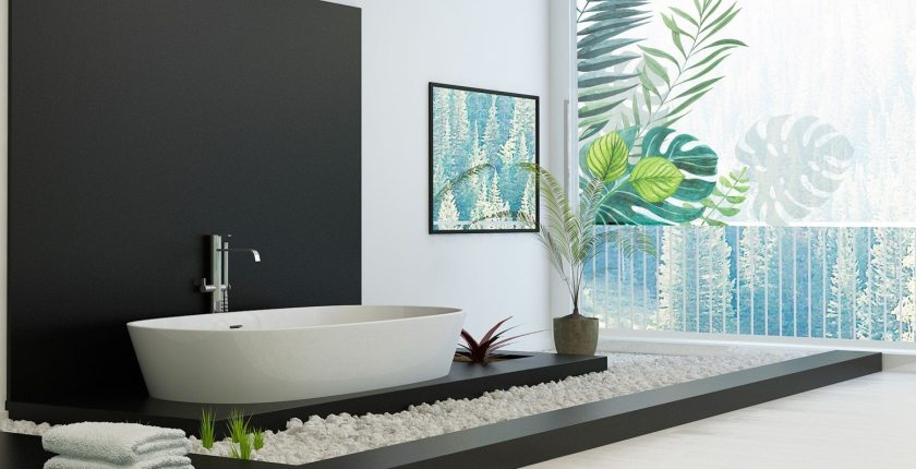 Рулонні штори в ванну кімнату