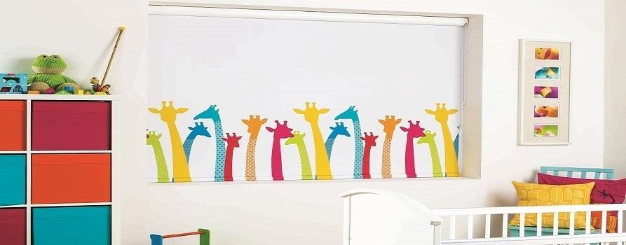 рулонные шторы в детскую