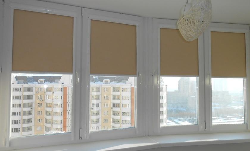 тканевые ролеты на балкон
